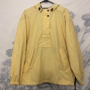 Cutter and Buck yellow windbreaker hoodie